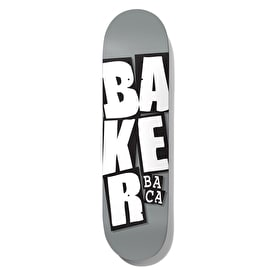 Baker Stacked Logo - Baca Skateboard Deck 8.25