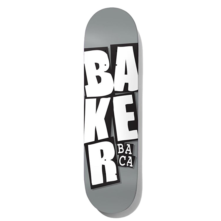 Baker Stacked Logo - Baca Skateboard Deck 8.25""