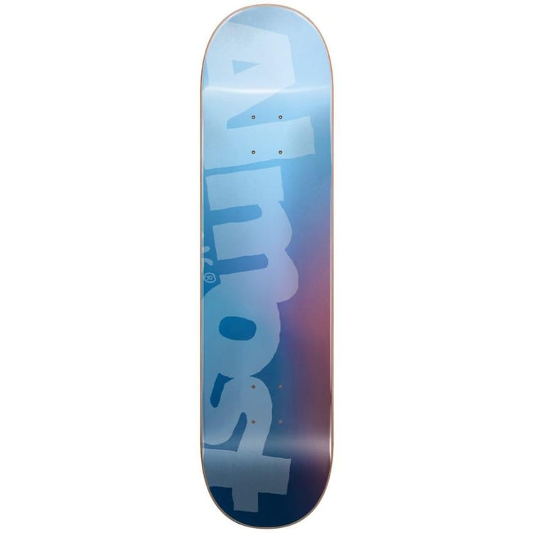 """Almost Side Pipe Blurry Skateboard Deck - Blue 8.5"""""""