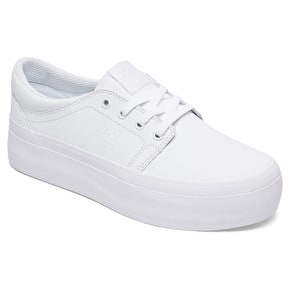 DC Trase Platform Womens Skate Shoes - White