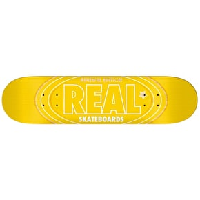 Real Renewal Oval PP Skateboard Deck - Yellow 8.06