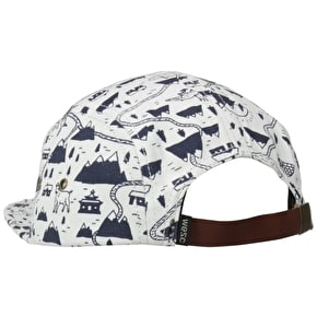 WeSC Goat 5 Panel Baseball Cap - Winter White