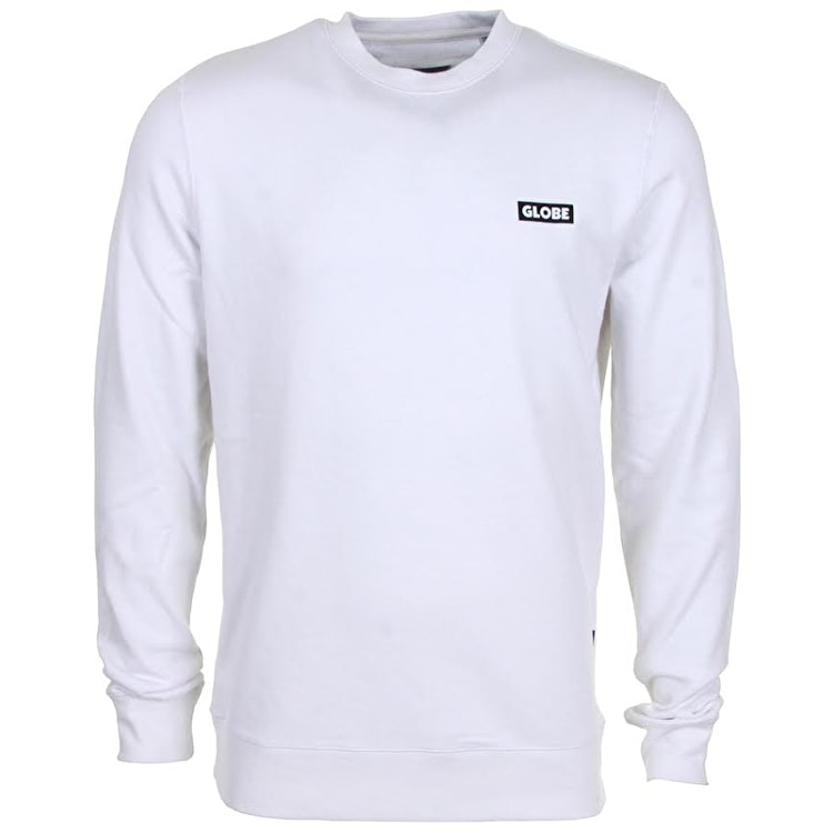 Globe Block Crewneck - White