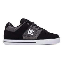 DC Pure SE Skate Shoes - Black/White/Grey