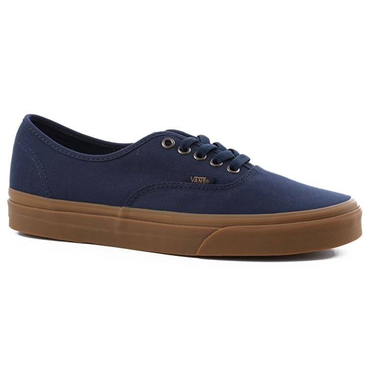 Vans Authentic Skate Shoes - (Light Gum) Dress Blues