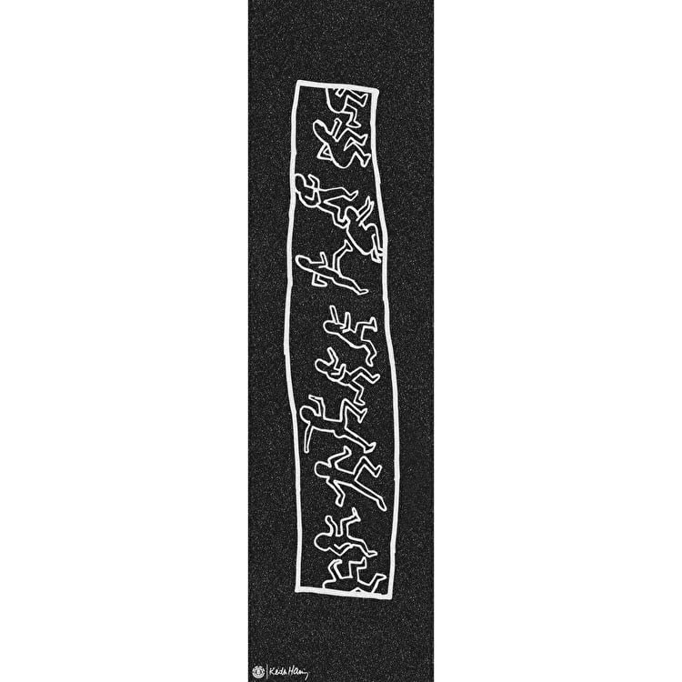 Element Haring Running Man Skateboard Grip Tape - Black