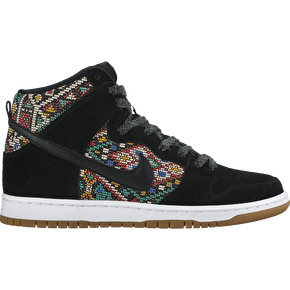 Nike SB Dunk High Premium Skate Shoes - Black/Black/Rio Teal
