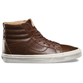 Vans Sk8-Hi Reissue Skate Shoes - (Lux Leather) Shaved Chcolate/Porcini