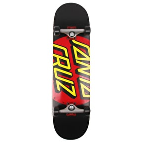 Santa Cruz Big Dot Complete Skateboard - Black/Red 8.25