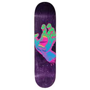 Santa Cruz Neon Screaming Hand HRM Skateboard Deck - Purple 7.75