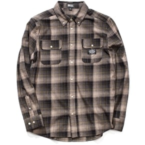 Grizzly Endangered Flannel Shirt - Brown Plaid