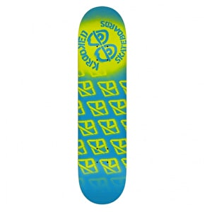 Krooked Diffused II Skateboard Deck - Blue/Yellow 8.06
