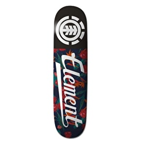 Element Sketch Floral Script Skateboard Deck - 8.2