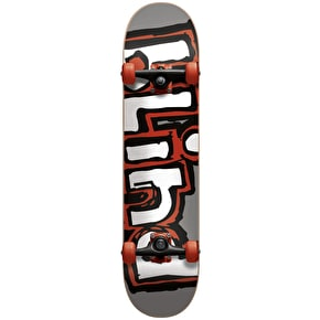 Blind Matte OG Logo Complete Skateboard w/Stocking- Silver/Red 7.75
