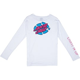Santa Cruz Light'N Up Long Sleeve Womens T Shirt - White