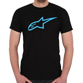 Alpinestars Ageless T-Shirt - Black/Cyan