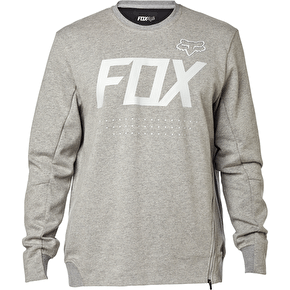 Fox Brawled Tech Crew Fleece - Heather Grey