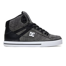 DC Pure HT TXSE Skate Shoes - Black/Grey/White
