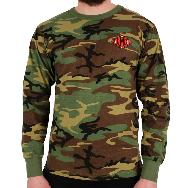 Loser Machine Guardian Long Sleeve T Shirt - Woodland Camo