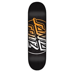 Santa Cruz Big Opus Fade Hard Rock Maple Skateboard Deck - Black/Multi 7.75