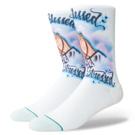 Stance Airbrushed Blessed Socks - Blue