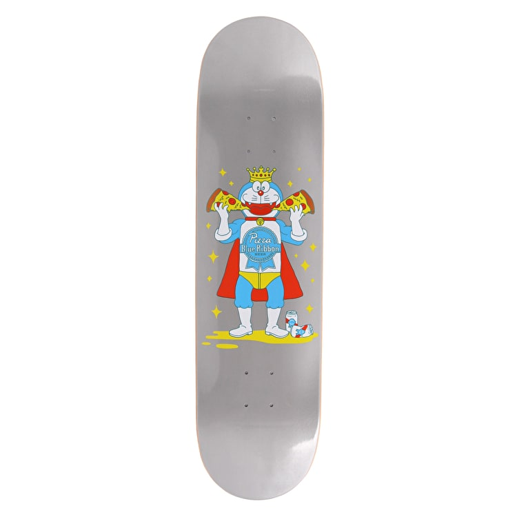 Pizza Skateboards PBR X Pizza Skateboard Deck - Silver - 8.25""