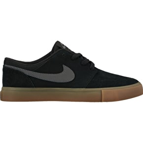 Nike SB Portmore II (GS) Kids Skate Shoes - Black/Dark Grey
