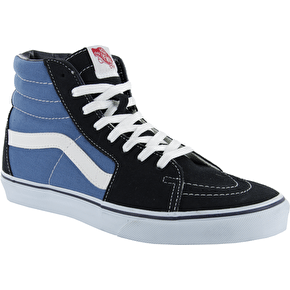 B-Stock Vans Sk8-Hi Skate Shoes - Navy/White - UK 12 (Cosmetic/Box Damage)