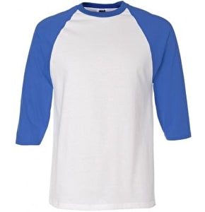 Royal Anvil Raglan T-Shirt - White/Navy