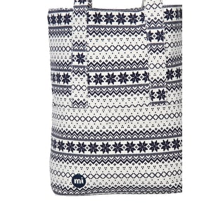 Mi-Pac Fairisle Tote Bag - Navy/White