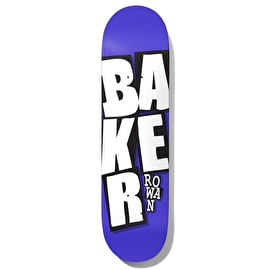 Baker Stacked Logo - Rowan Skateboard Deck 7.875