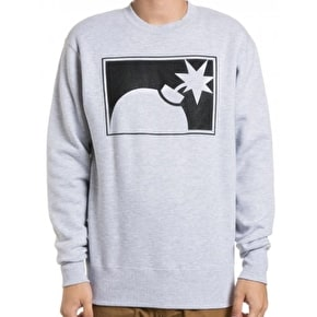 The Hundreds Forever Half-Bomb Crewneck - Athletic Heather