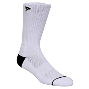 Primitive Crew Skate Socks - White