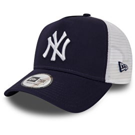 New Era New York Yankees MLB 9FORTY League Essential Womens Trucker Cap - Light Navy/Optic White