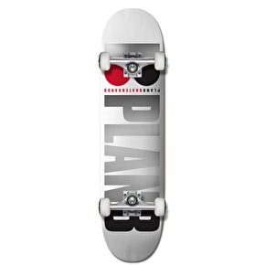 Plan B Team OG Complete Skateboard - White/Foil 7.75