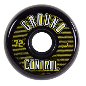 Ground Control 72mm 90a Inline Skate Wheels - Black/Gold (4pk)