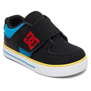 DC Pure V II Toddlers Skate Shoes - Black/Multi
