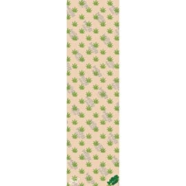 MOB Krux Leaf Pattern Skateboard Grip Tape - Clear/Green 9