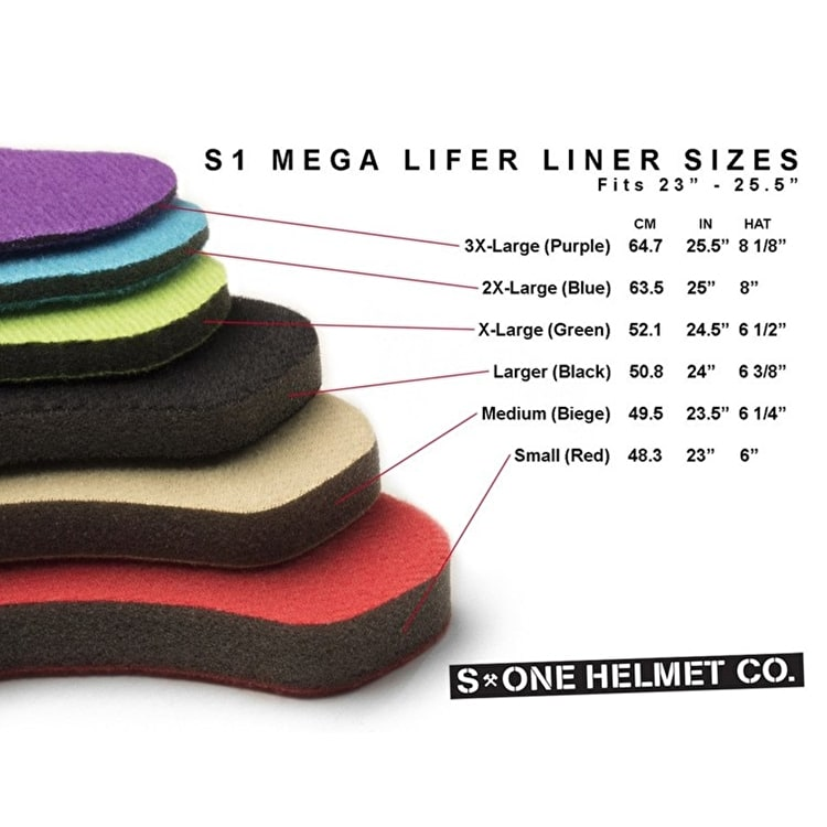 S1 Lifer Replacement Helmet Padding/Fitting Liner