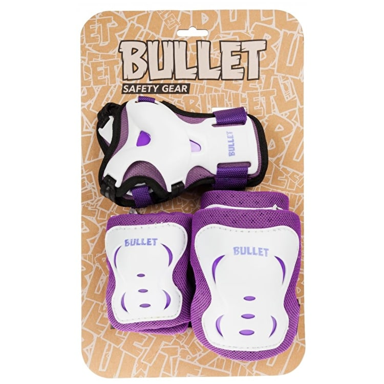 Bullet Junior Triple Padset - Purple/White
