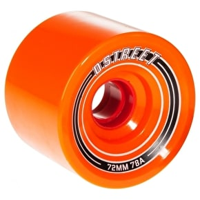 D-Street Fly 78A Longboard Wheels - Orange 72mm