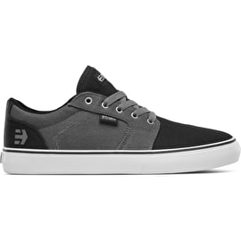 Etnies Barge LS Skate Shoes - Black/Grey/Silver