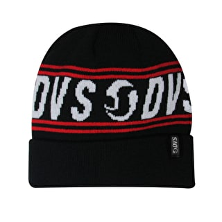 DVS Jacquard Cuffed Beanie - Black/Red