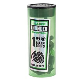Thunder Allen Skateboard Truck Bolts - Black/Green 1