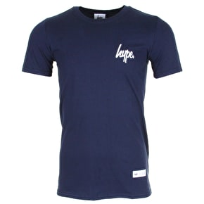 Hype Mini Script T-Shirt - Navy/White