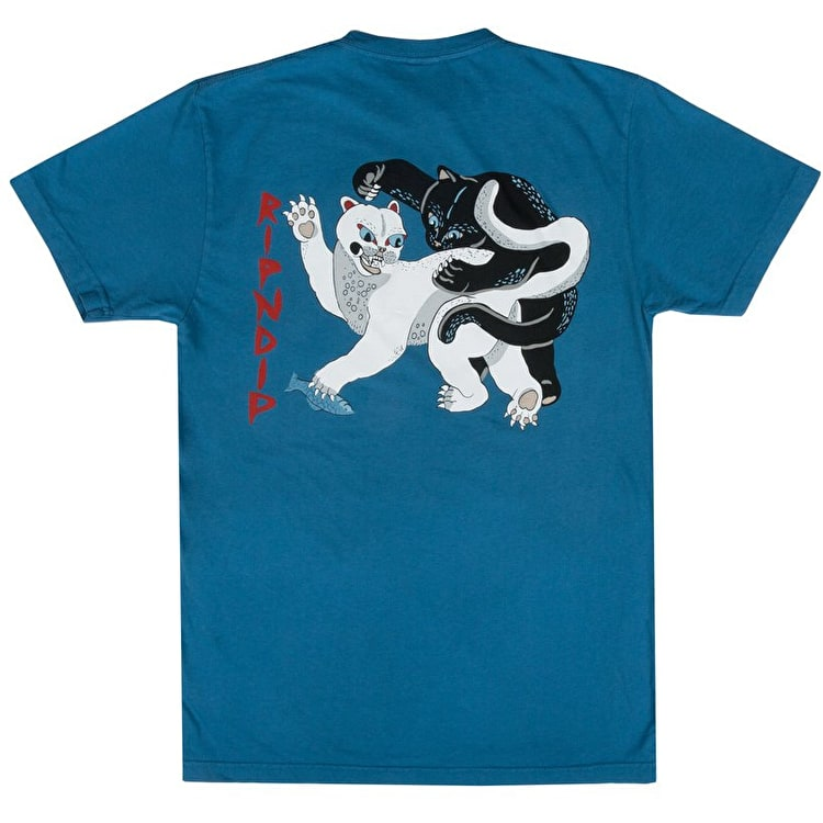 RIPNDIP Brawl T Shirt - Harbour Blue