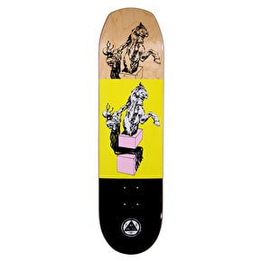 Welcome Hierophant On Helm Of Awe 2.0 Skateboard Deck - Yellow 8.38