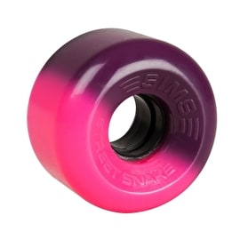 Sims Street Snakes 2 Tone 62mm Quad Roller Skate Wheels - Pink/Purple