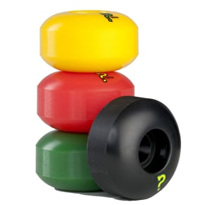 Enuff Refresher Rasta Mix Skateboard Wheels (Pack of 4)