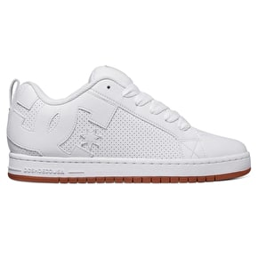 DC Court Graffik Skate Shoes - White/Gum